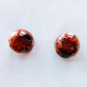 Boucles d'oreilles Lisa en résine rouge par ADAVAL BIJOUX, savoir faire français en Hauts de France