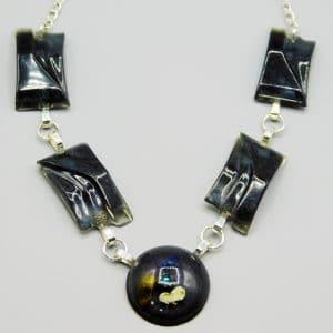 Collier Noir Anna bijoux résine Adaval bijoux